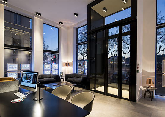 Contact background light - BARNES Agency, luxury real estate in Lyon