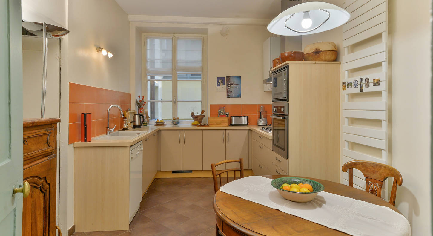 Barnes Lyon, prestigious real estate agency -  Kitchen of an apartment in Lyon 5
